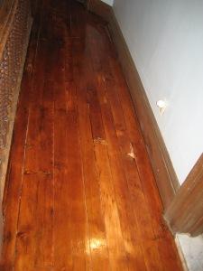 After picture of hallway floor