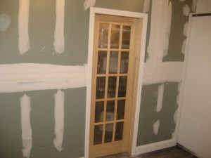 Working on French Door and New Wall