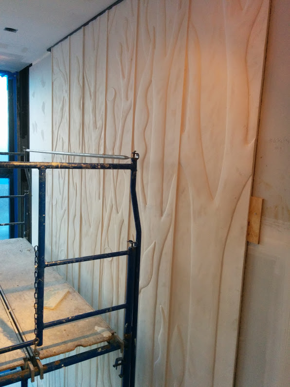 Plaster install using Polymer Thinset