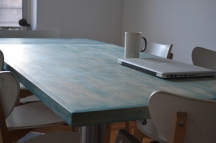 Custom Dining Table Color Washed