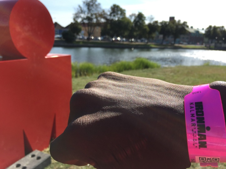 ironman bracelet at sign