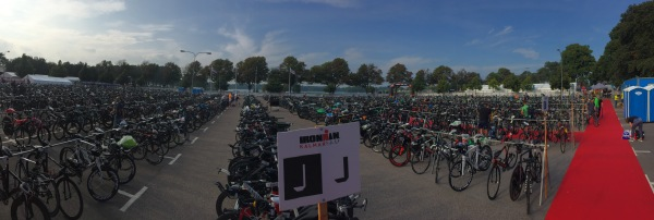 pano of bike transition