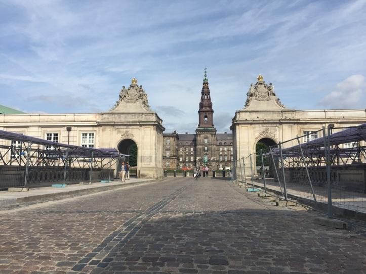 christiansborg castle street side